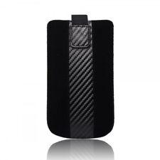 Housse en cuir forcell - carbon- iphone 3g/4g/4s/i9000 omnia noir