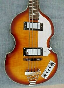 Rogue VB 100 Violin Bass Guitar in Beautiful Sunburst Finish -Flat Wound Strings