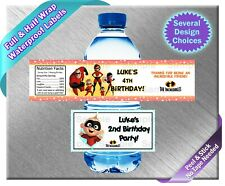 The Incredibles ~ Water Bottle Labels ~ Birthday Party Baby Shower Jack Jack