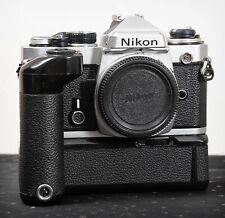 Lovely WORKING Nikon FE 35mm film camera + Nikon MD-12 Motor Drive