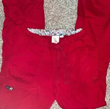 Koi By Kathy Peterson Women's Scrub Cargo Pants Size Small Tall Red. Comfy!