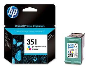 Genuine Tri-Colour HP 351 Ink Cartridge Vivera HP CB337E