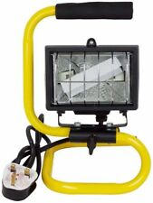 PORTABLE 150W HALOGEN FLOOD LIGHT ADJUSTABLE WORK SITE STAND LAMP HAND HELD