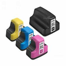 4pk BLACK &Color 02 Printer Ink Cartridge Comp for HP Photosmart C7200 3310 8250