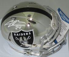 Raiders CHARLES WOODSON Signed CHROME Mini Helmet AUTO - HOF ?? - Beckett