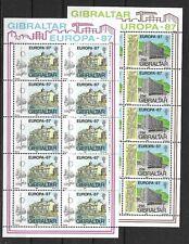 CEPT, Europa,Gibraltar 1987, Mi 519/520 KB, postfrisch, KW 25,00€