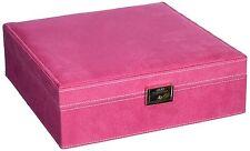 Two Layer Fleece Lined Jewelry Box Organizer Display Storage Case High Quality