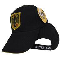 Germany German Eagle Deutschland Black Baseball Hat Ball Cap 3D embroidered