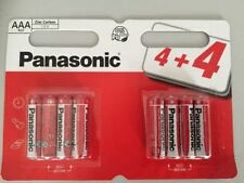 8 x PANASONIC AAA TRIPLE A BATTERIES BATTERY 1.5V R03 NEW 99p FREE FAST POSTAGE