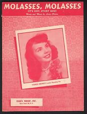 Molasses Molasses 1950 Theresa Brewer Sheet Music