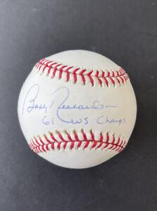 BOBBY RICHARDSON 1961 WSC Inscription YANKEES AUTO SIGNED OML BASEBALL STEINER
