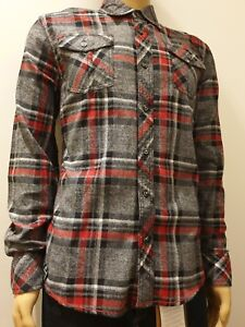 Mens Grid Pattern Long Sleeve Cotton Brushed Casual Collar Shirt Sizes S-3XL