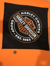 HARLEY DAVIDSON HOG 2019 DAYTONA BIKE WEEK TRADEMARK LOGO BANDANA & PIN SET