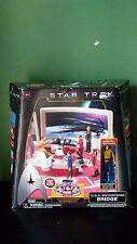 NIB Collector Star Trek USS ENTERPRISE BRIDGE Capt Kirk Figure Playset Playmate