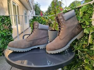 New Without Box Timberland Original 6 Inch Classic Grey Boots Mens UK Size 13W