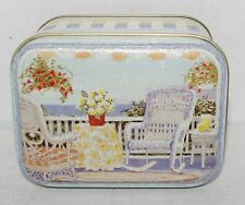 Keller Charles SUMMER BEACH HOUSE PORCH WICKER FURNITURE Tin Box Canister