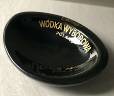 Polmos Wyborowa Vodka Ceramic Ashtray - Pruszkow, Made In Poland.