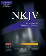 Nkjv Wide-Margin Reference Black Calf Split Nk744:Xrm: By Baker Publishing Group