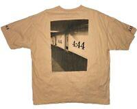 Jay-Z 4:44 Tour T Shirt Authentic Peach Men's Sz 2XL Rare Rap Tee Hip Hop