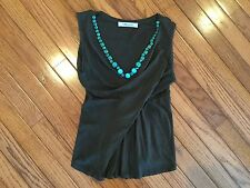 BLUEMARINE Sleeveless V Neck Top Blouse Size XS