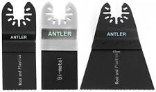3 Antler Blade Combo B for Dewalt Stanley Worx F30 Dremel Oscillating Multitool