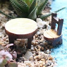 Floral Table Chairs Miniature Landscape Garden Decoration Dollhouse Accessorie I