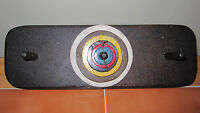ANTIQUE AMERICAN FOLK ART WOOD CARVED GAME INVENTION ONE OFA KIND BULLSEYE ID'D