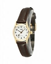 Casio LTP1094Q-7B4 Ladies Casual Analog Watch Leather Band Gold Case BRAND NEW