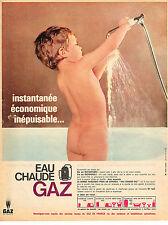 PUBLICITE ADVERTISING  1965   GAZ DE FRANCE   eau chaude