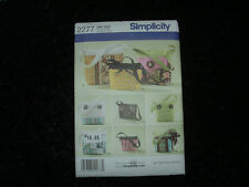 Simplicity #2277 Craft Tote Bags Hand Bags Purse Sewing Patterns