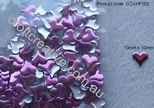 IRON ON HOT FIX PINK FUNKY HEART NAILHEAD (CCAHF002) - 10 GRAMS (APPROX. 250)