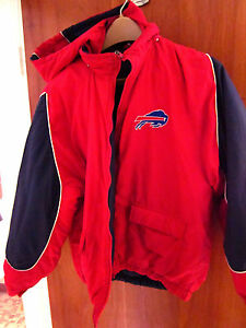 BUFFALO BILLS football reversible youth jacket broken zipper lrg size 16-18 kids