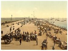 2 Victorian Views of Southsea Promenade Beach Old Photos Pictures Set Pioster