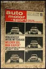 AMS Auto Motor Sport 11/67 Renault 8 Gordini 1300 Glas 1304 Lancia Flavi
