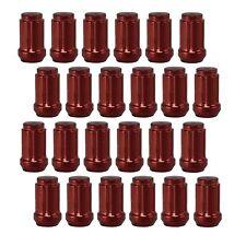 24 Piece Red Spline Lug Nut | 12x1.25 Thread | Tuner Style 6 Spline With Key