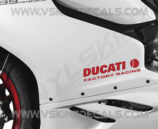 2x Ducati Factory Racing Premium Cast Decals Stickers Monster Panigale 916 200mm