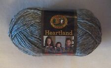 2 BALLS of MOUNT RAINIER (SILVERY GREY) HEARTLAND LION BRAND YARN - 502 YARDS