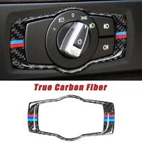 For BMW 3 Series E90 E90 Carbon Fiber Headlight Switch Button Frame Cover Trim
