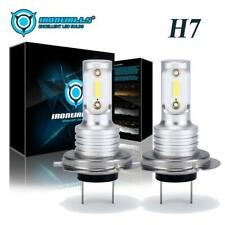 2PCS H7 LED Headlight Bulbs Conversion Kit High / Low Beam 55W 6000K Super White