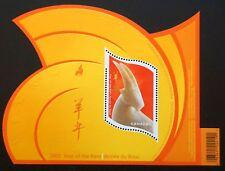 Canada  Sc# 1970 YEAR OF THE RAM Souvenir Sheet  Chinese calendar  2003  MNH