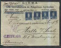 AARG-13 ARGENTINA TO GERMANY OLD COMMERCIAL REGISTERED LETTER  POS