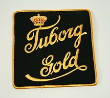 Vtg Tuborg Gold Brewing Beer Distributor Large Jacket Cloth Patch 1960s NOS New