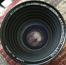 STAR D ZOOM CLOSE-UP LENS w/ CAPS 52MM THREADS W/ CASE