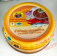 3 Lady Cooks Brand Mackerel Chili Paste Nam-Prik Ready to eat Thai Food 75g.