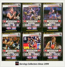 2001 Teamcoach Trading Cards Base Prize Team Set Collingwood (6)