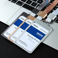 NEW Luxury Aluminum Alloy Business Work Office Card ID Badge Lanyard Holder AU