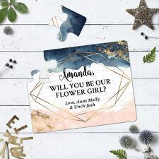 Flower Girl Proposal Puzzle Invitation Wedding Flower Girls Invite Card - 111