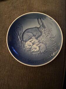 Bing & Grondahl B&G Porcelain Mothers Day Plate 1981 - Mors Dag Royal Copenhagen