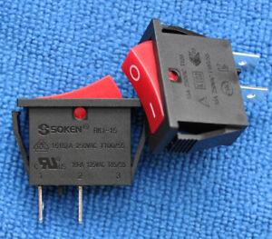 1pcs RK1-15 Rocker Switch 16A 125/250VAC T100/55 2 Pins NEW