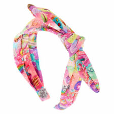 Claire's Girl's Cosmic Sweets Knotted Bow Headband Rainbow